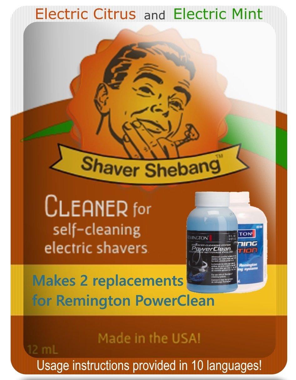 Remington PowerClean Citrus & Mint, 8 bottles=4 pack Shaver Shebang
