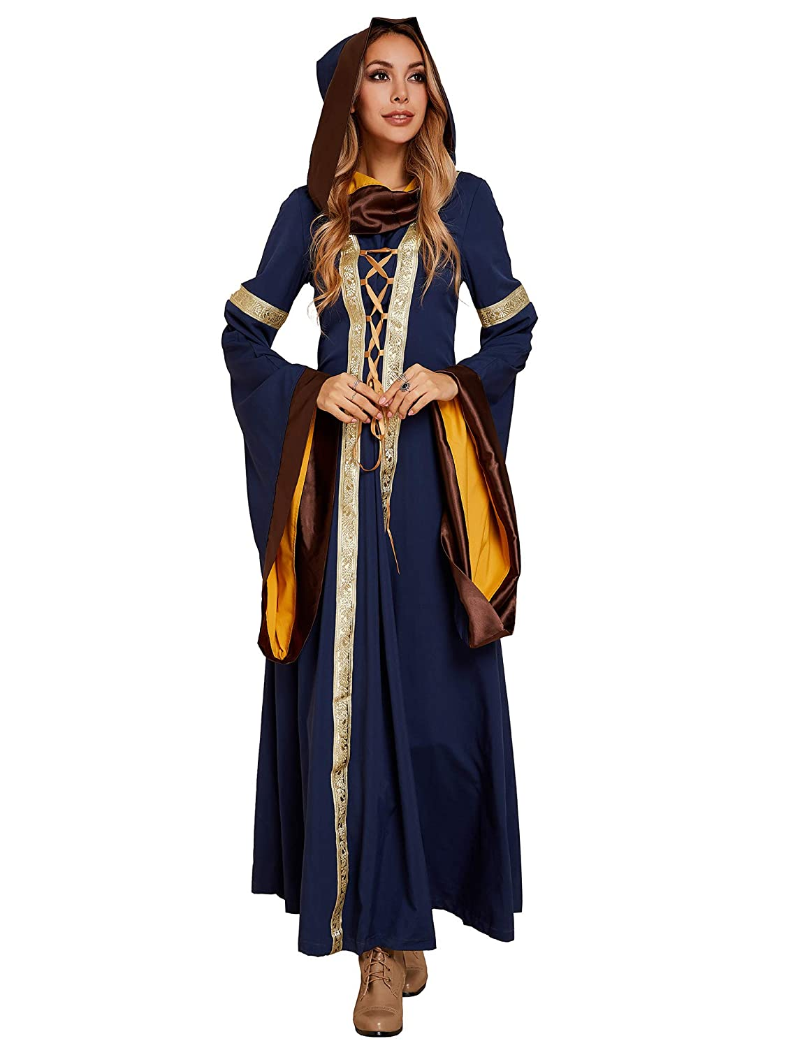 6d2905f414b1f Ofenbuy Womens Deluxe Victorian Dress Vintage Gothic Renaissance Medieval  Dresses Cosplay Halloween