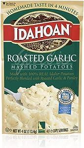 TLC 3 Pack Idahoan Mashed Potatoes Roasted Garlic 4oz Bags
