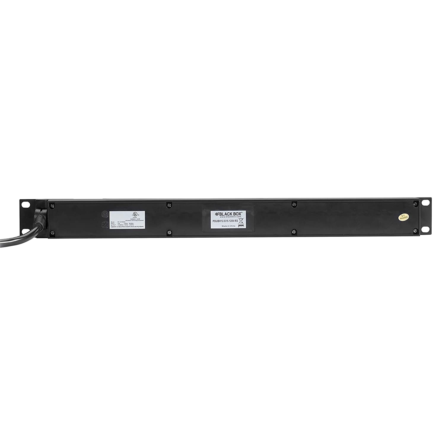 Black Box Horizontal PDU 15A 20V 12 5-15R Outlets 6ft 5-15P Cord