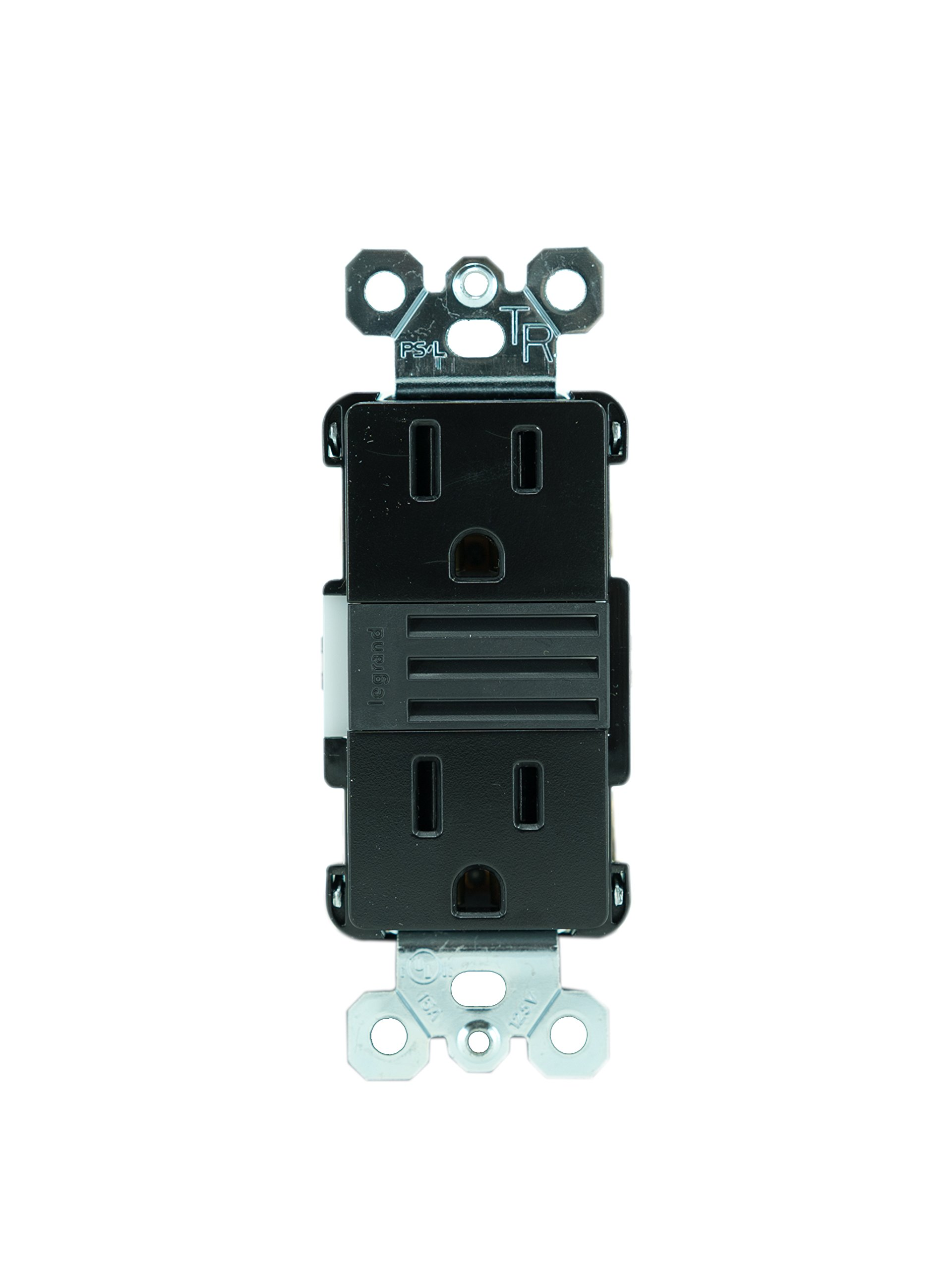 Legrand - Pass & Seymour NTL885TRBKCC6 Radiant Nlite/2 15A Tr Outlts + Lou Electrical Outlet