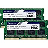 Timetec 8GB KIT(2x4GB) Compatible for Apple DDR3L 1600MHz for Mac Book Pro (Early/Late 2011,Mid 2012), iMac(Mid 2011,Late 201