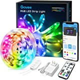 LED Strip Lights Bluetooth, Govee 16.4FT LED Color Changing Lights with APP Control, Remote and Control Box, 7 Scenes Mode an