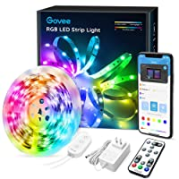 LED Strip Lights Bluetooth, Govee 16.4FT LED Color Changing Lights with APP Control, Remote and Control Box, 7 Scenes Mode and Music Sync LED Lights for Room, Kitchen, Party (3 Ways Control)