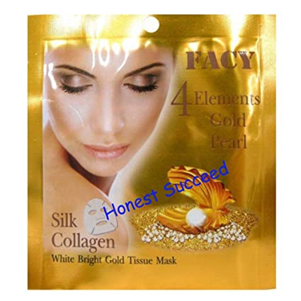 facy 4 elementos oro Pearl seda colágeno máscara de tejido. (honesto succed)