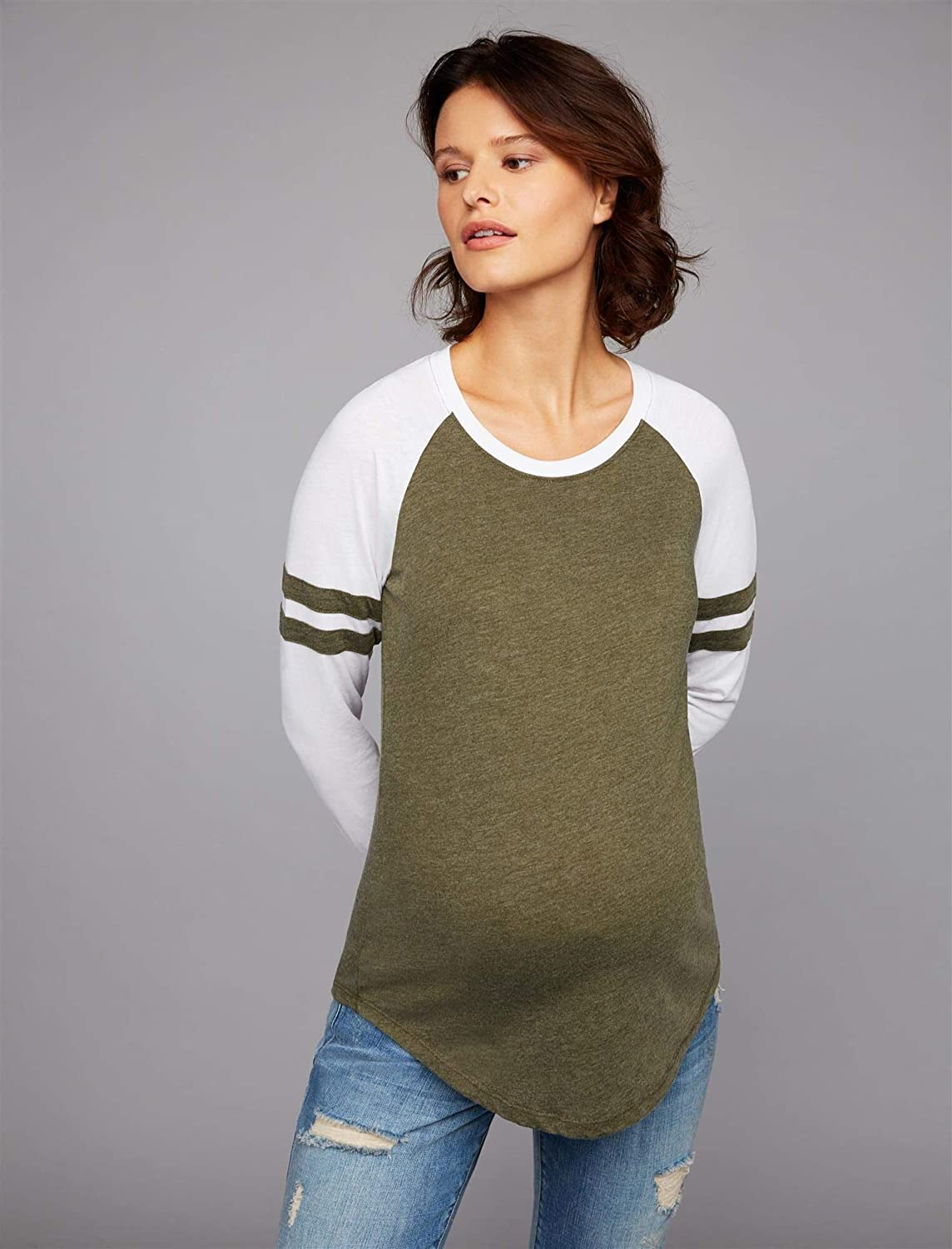 A Pea in the Pod Z Supply Sleeve Detail Maternity Top