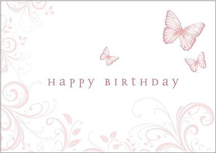 Spécial maman happy birthday roses coeur /& papillon design carte de vœux