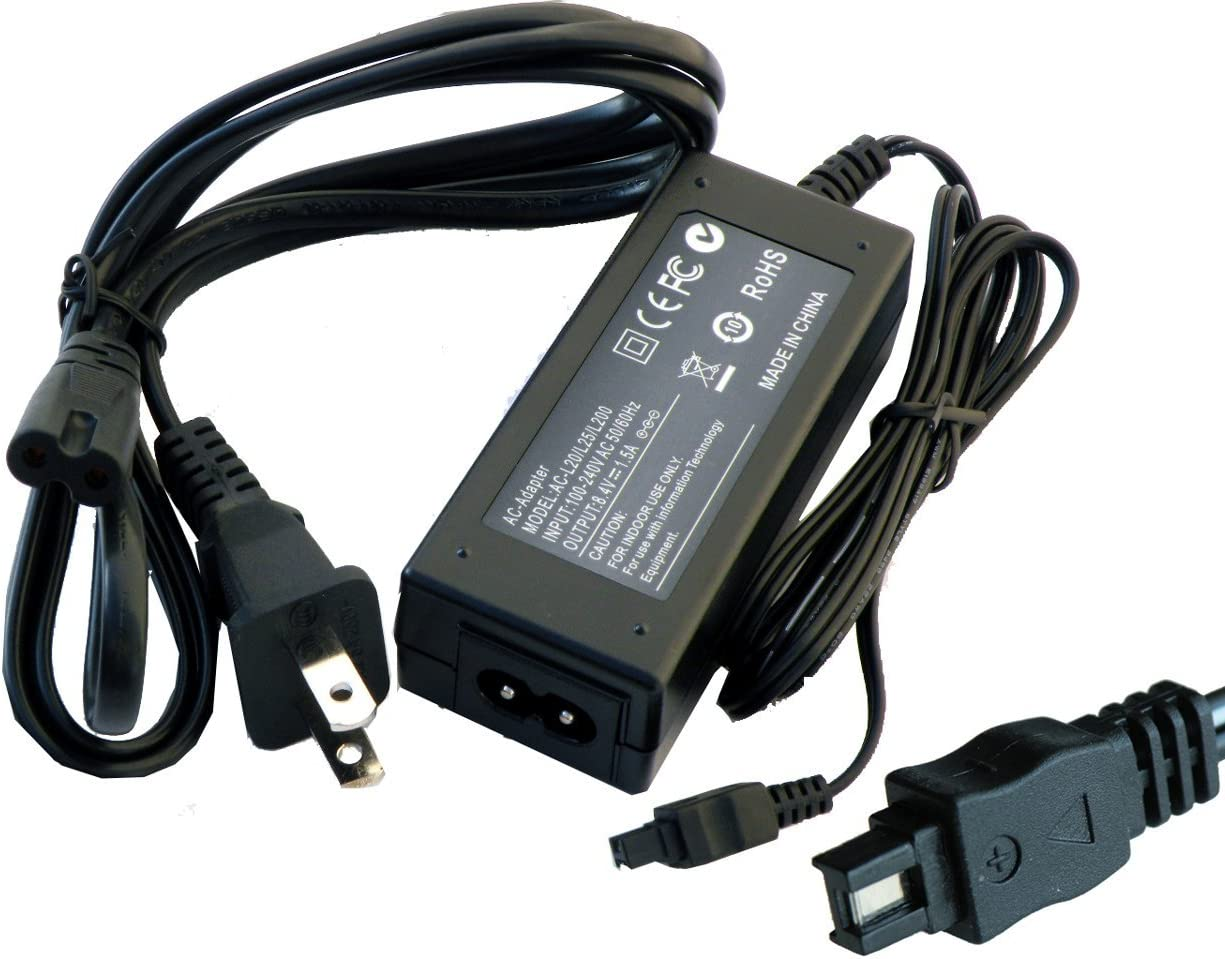 iTEKIRO AC Adapter Power Supply Cord for Sony DCR-SR40E DCR-SR42 DCR-SR42A DCR-SR42E DCR-SR45 DCR-SR45E DCR-SR46 DCR-SR46E DCR-SR47 DCR-SR47E DCR-SR47L Video Cameras Camcorders iTEKIRO 10-in-1 USB Charging Cable