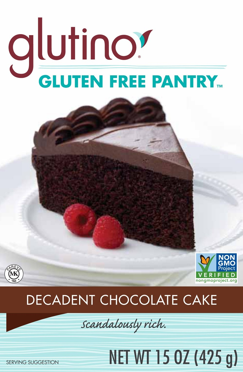 Glutino Gluten Free Pantry Decadent Chocolate Cake Mix, 15-Ounce Boxes (Pack of 6)