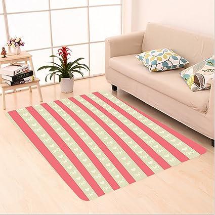 Amazon.com: Nalahome Custom carpet o Tile of Carmine and Pale Orcher ...