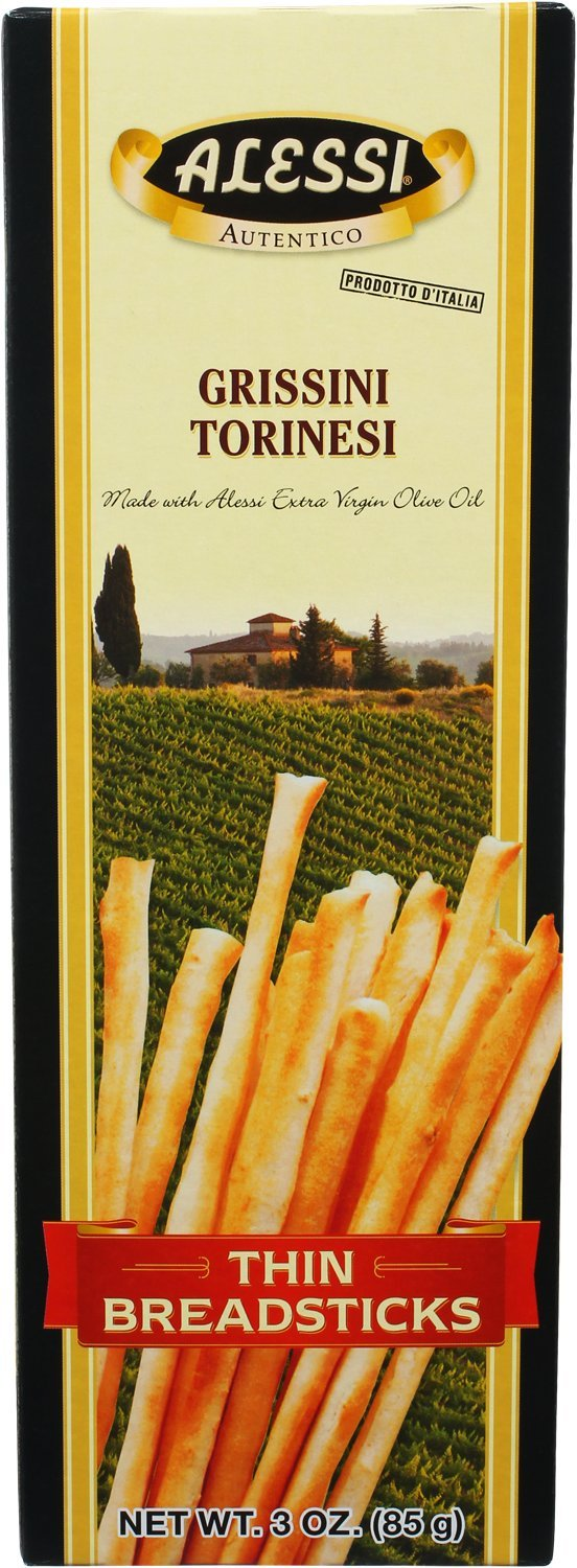 Alessi Thin Breadsticks, 3-Ounce Boxes (Pack of 12)