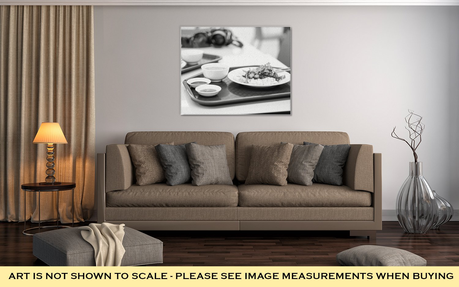 Ashley Canvas Thai Food Rice With Pork Chinese Style At Airport Lounge In Bangkok Asian Fast, Kitchen Bedroom Living Room Art, Black/White 24x30, AG5874661 by Ashley Canvas