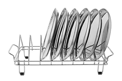 Impulse International Stainless Steel Plate Rack - Plate Stand (Utensil Rack) Chrome Plated  sc 1 st  Amazon.in : plate stand rack - pezcame.com