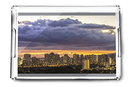 Amazon com: Honolulu, Hawaii - Waikiki and Honolulu Lights