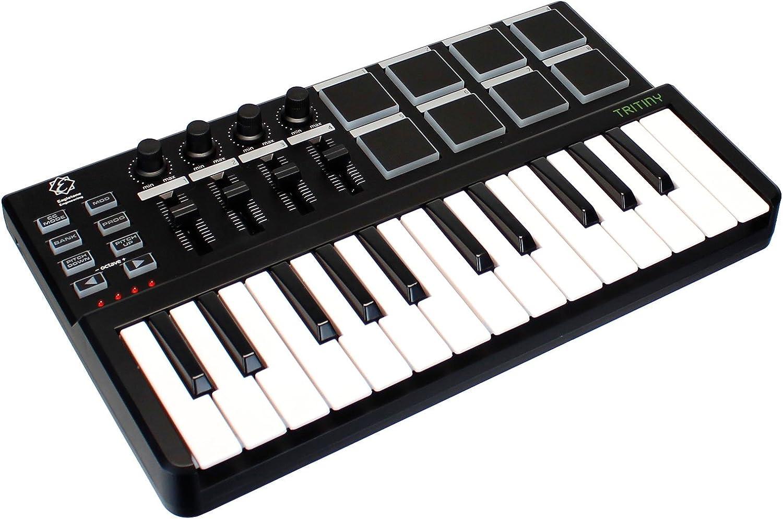 Eagletone Trinidad teclado maestro MIDI/USB de 25 teclas Negro