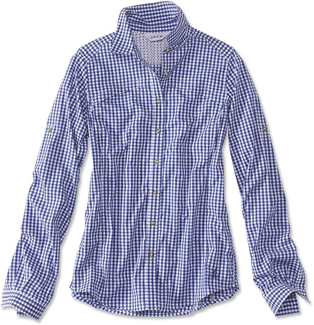 Womens Orvis River Guide Tech Gingham Long-Sleeve Shirt