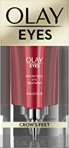 Eye Cream by Olay, Eyes Pro-Retinol Eye Cream Treatment with Vitamin E to Reduce the look of Deep Wrinkles and Reflect Visibly Smoother, Younger-Looking Eyes, 0.5 Fl Oz Packaging may Vary