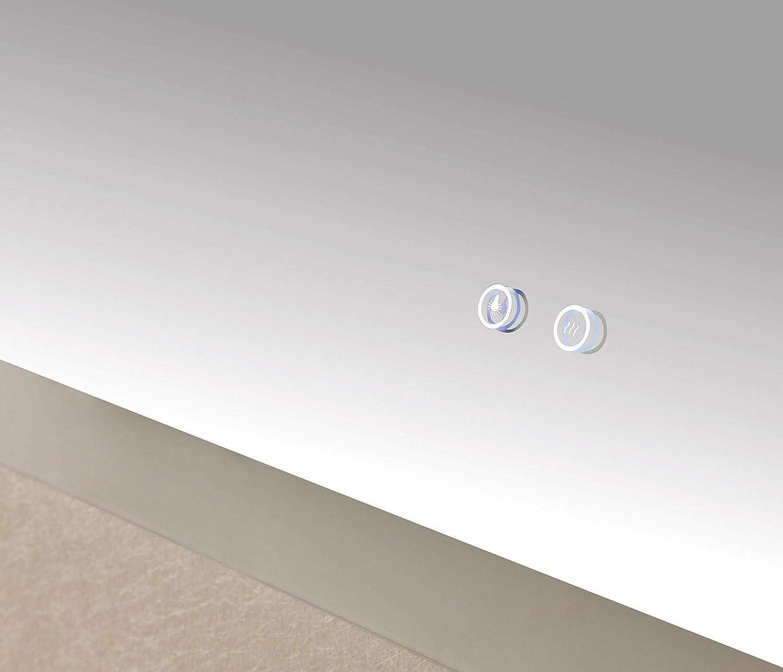 Lampe miroir salle de bain SOGOO/® New G/én/ération Miroir Mural Miroir LED pour salle de bain Miroir Salle De Bain avec /éclairage Int/égr/é LED Et Fonction Anti Bu/ée Blanc Froid 6500K