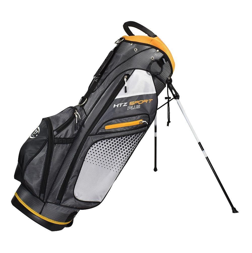 hot-zゴルフHTZスポーツプラススタンドバッグ  チャコール/イエロー B0741WQ58D