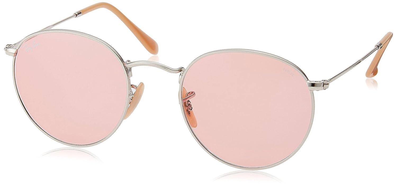 Rayban 0RB3447 9065V7 50 Gafas de sol, Rectangulares, 50, Silver/Pink
