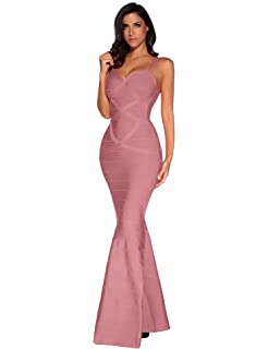 76286f6b11 Meilun Women s Maxi Bandage Dress Fishtail Bodycon Formal Evening Dresses