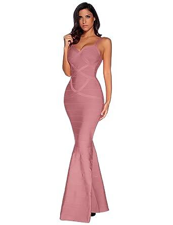 Amazon Meilun Womens Maxi Bandage Dress Fishtail Bodycon