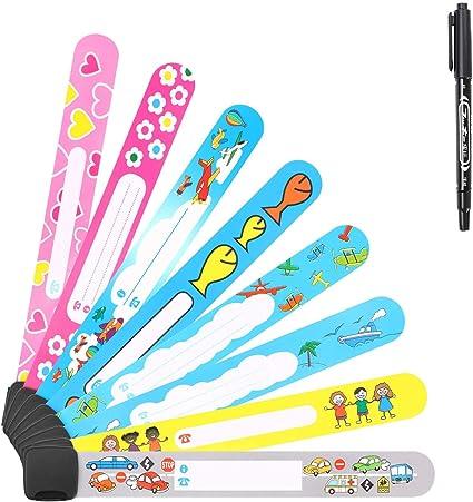 Child Safety Id Wristband Waterproof Kids Bracelet Anti Lost Reusable Sos Boys