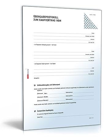 bergabeprotokoll hauskauf pdf download download - Vorvertrag Grundstuckskauf Muster Kostenlos