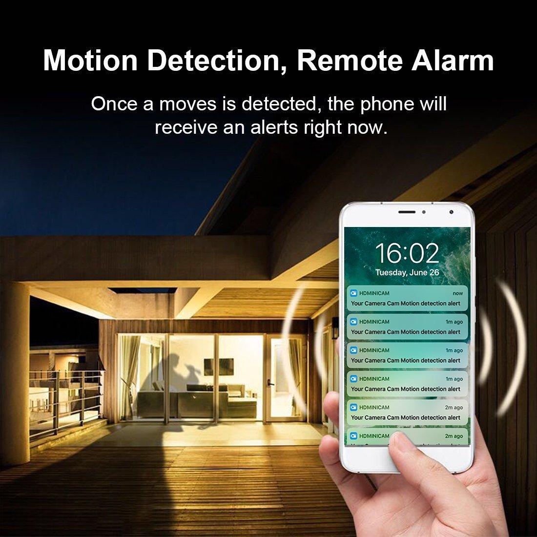 PNZEO W3 Cámara Espía HD 1080P Mini Cámara Oculta Portátil WiFi Cámara IP de Seguridad IR Vision Nocturna Detección de movimiento monitoreo remoto: ...