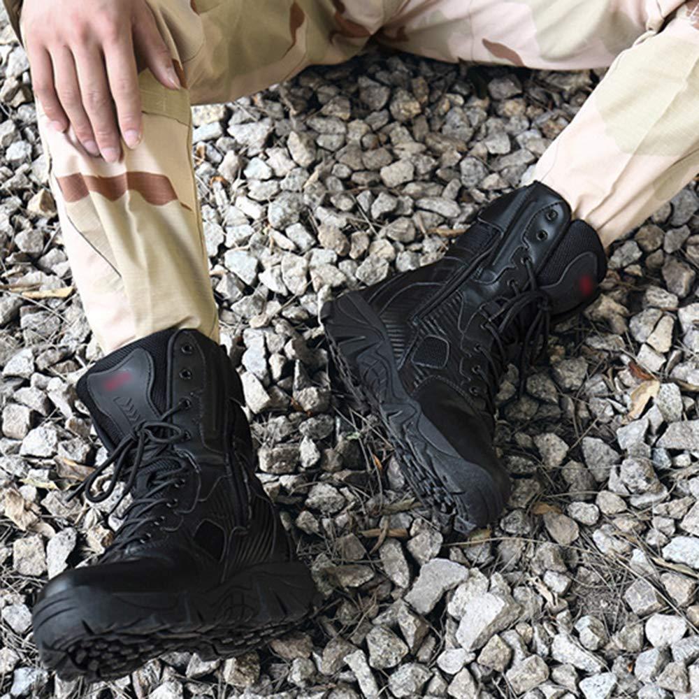 Männer Military Combat Stiefel Wüste Anti-Rutsch Im Freien Armee-Kampf-Dschungel-Jagd-Stiefel Kampierende Wandernden Patrol Stiefel Armee-Kampf-Dschungel-Jagd-Stiefel Freien Schuhe schwarz 652841