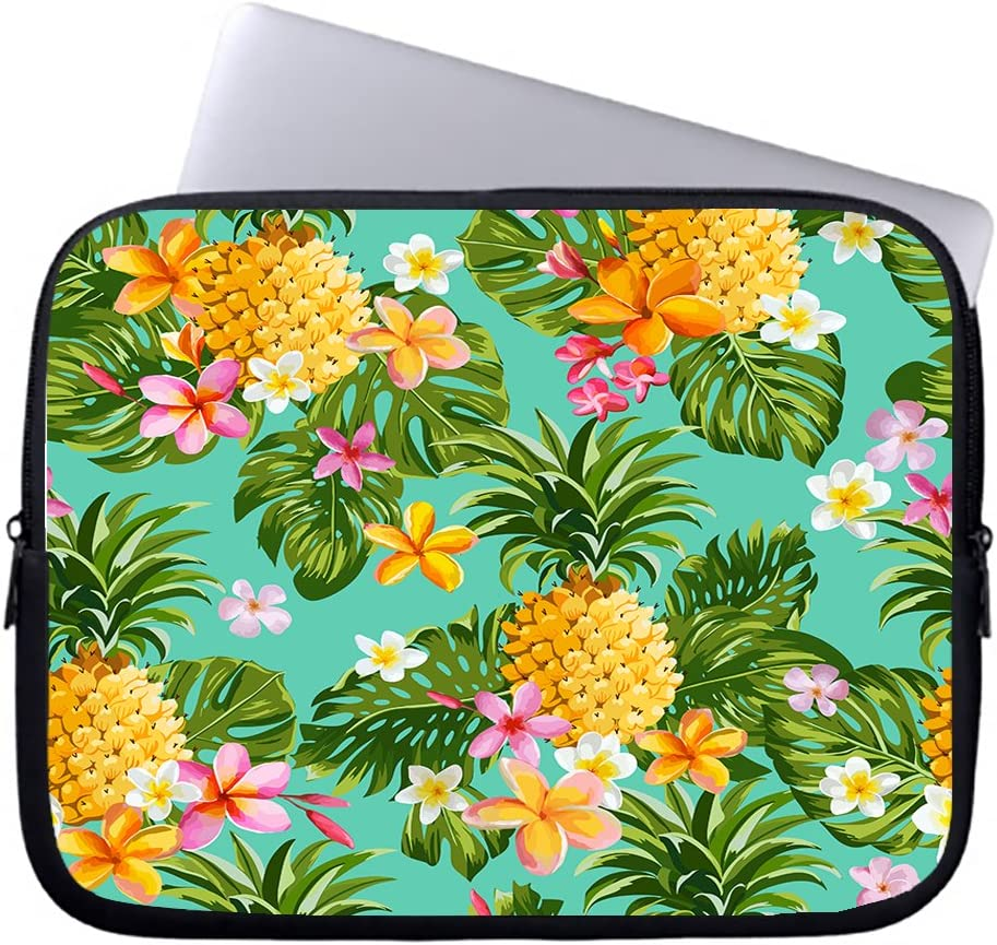 "Neafts Tropical Pineapple Flower Pattern Waterproof Neoprene Sleeve Pouch Case Bag for 13"" - 13.5"" Inch Laptop Computer/Notebook/Ultrabook/MacBook with Display Size 13""-13.5"" inches"