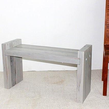 Remarkable Amazon Com Haussmann Teak Block Bench 36 X 12 5 X 20 5 Machost Co Dining Chair Design Ideas Machostcouk