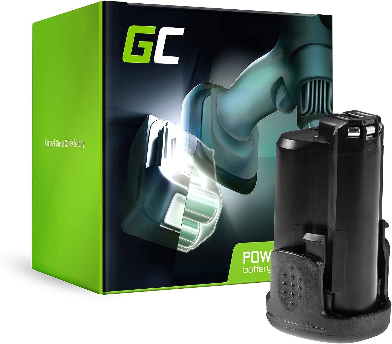 GC® (1.5Ah 10.8V Li-Ion) PBA 12 Power4All 10.8V/12V 1600A00H3D 1600A0049P Batería para Bosch PSR PSB PSM PMF PST PKS AHS mit Grün 10.8-12V Serie