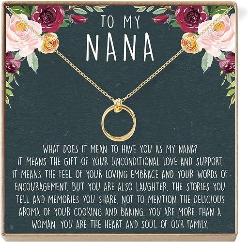Dear Ava Mimi Gift Necklace: Grandma Mimi 2 Linked Circles Best Mimi Ever Mimi Jewelry