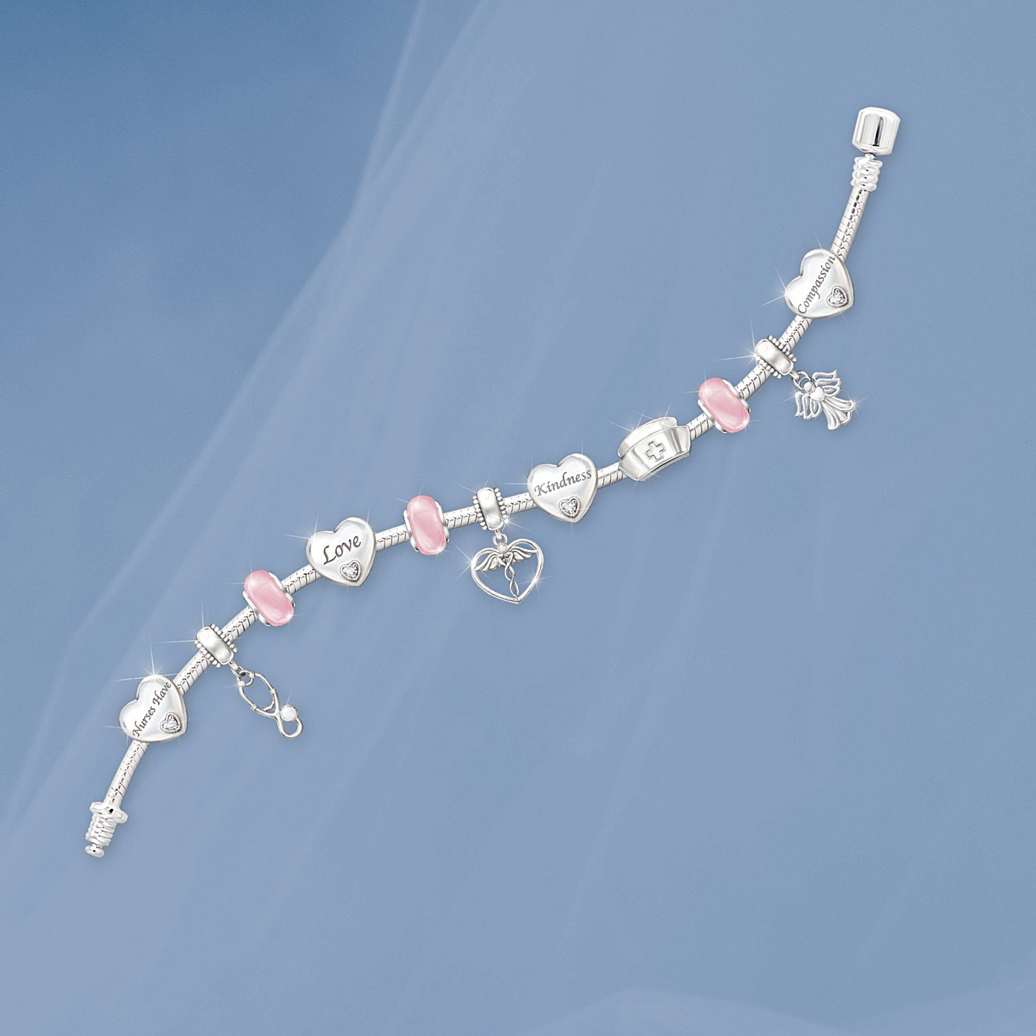 A Nurse's Heart Charm Bracelet by The Bradford Exchange by Bradford Exchange (Image #2)