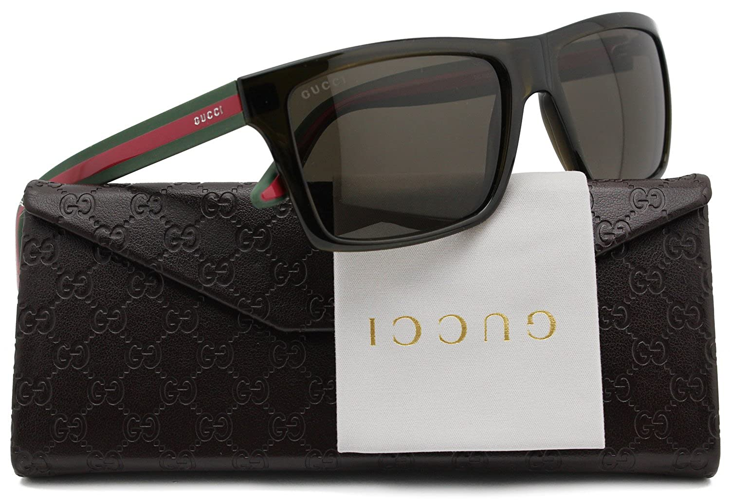 9ab9bf05b26 GUCCI GG1013 S Polarized Sunglasses Brown w Crystal Brown (053U) 1013 53U SP  56mm Authentic  Amazon.co.uk  Clothing