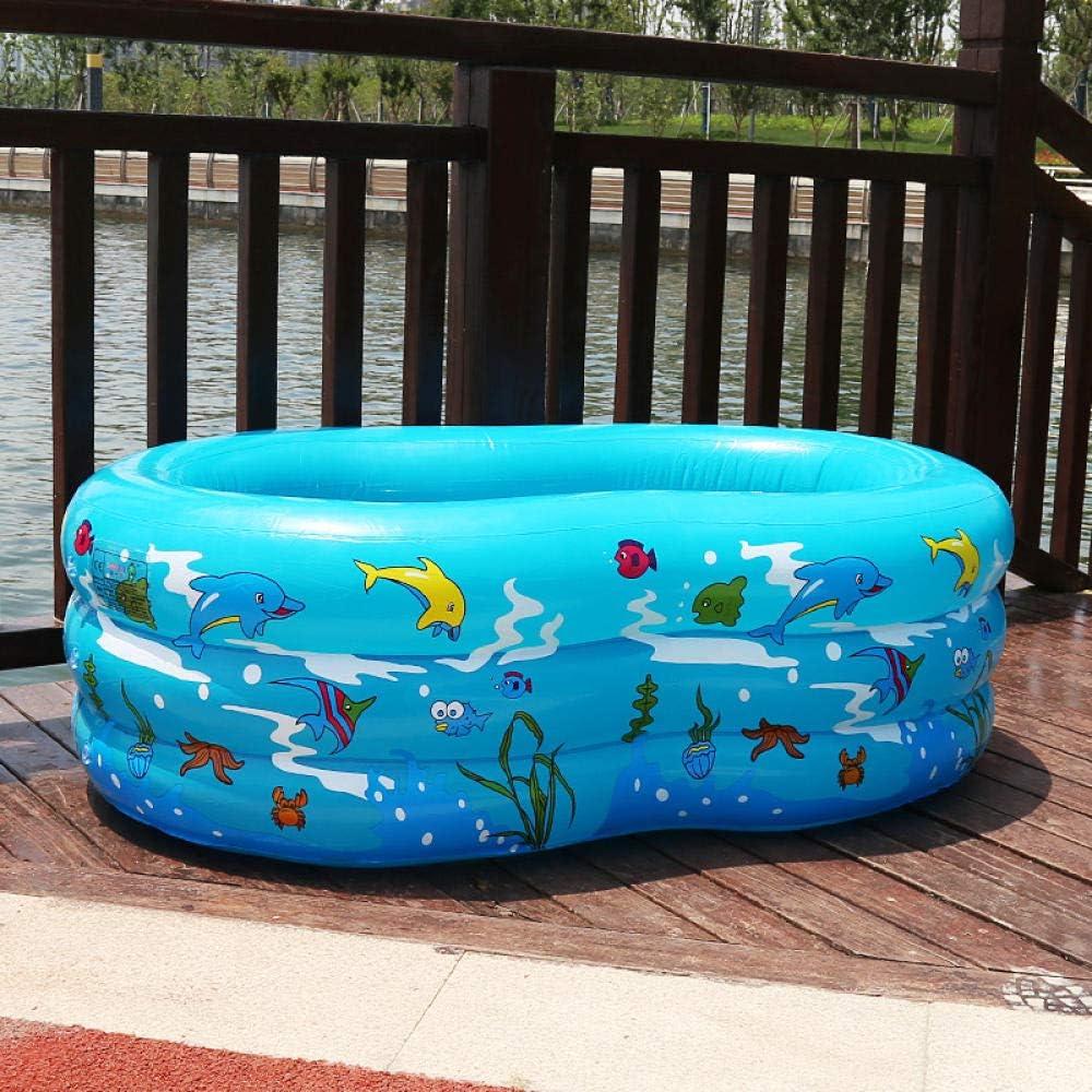 Estructura fácil de colocar piscina salón familiar piscina infantil inflable rectangular 130 * 90 * 50 azul, niños, adultos, patio trasero, interior y exterior, enviar bomba eléctrica inflable: Amazon.es: Jardín