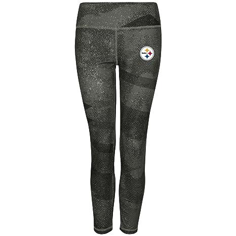"c91d3426878517 Pittsburgh Steelers Women's Majestic NFL ""Dynamic Effort"" Leggings  Yoga Pants"