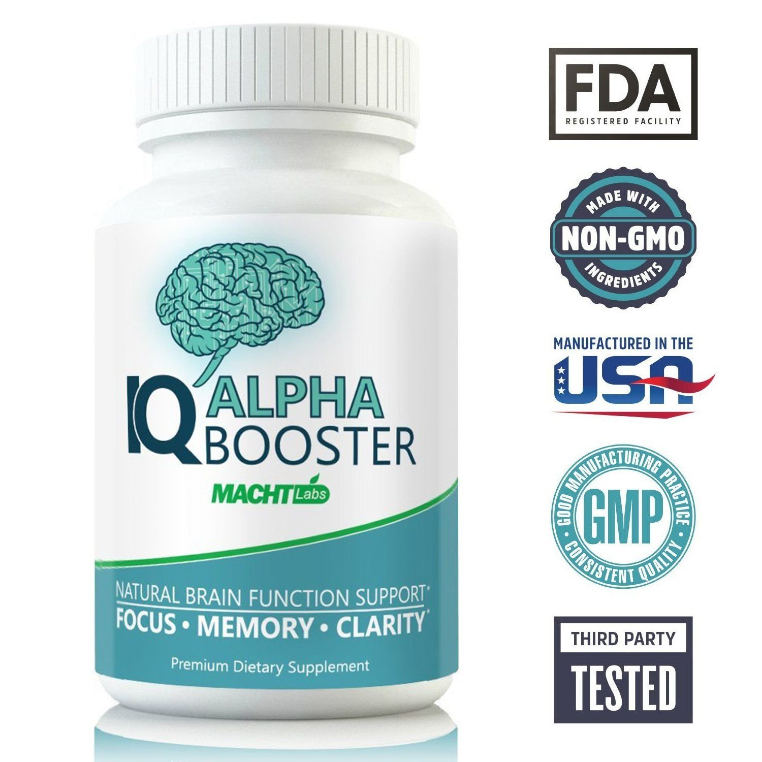 IQ Alpha Brain Supplement for Memory, Focus & Clarity - Holistic Nootropic  Stack for Brain Health and