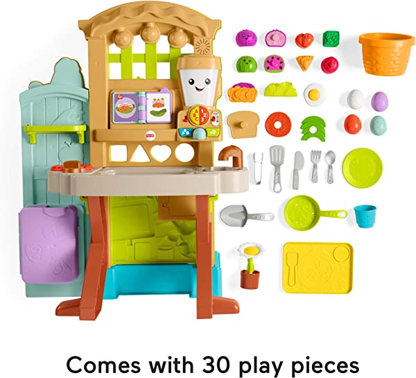 Fisher-Price Laugh & Learn Grow-the-Fun Garden to Kitchen toy for kids