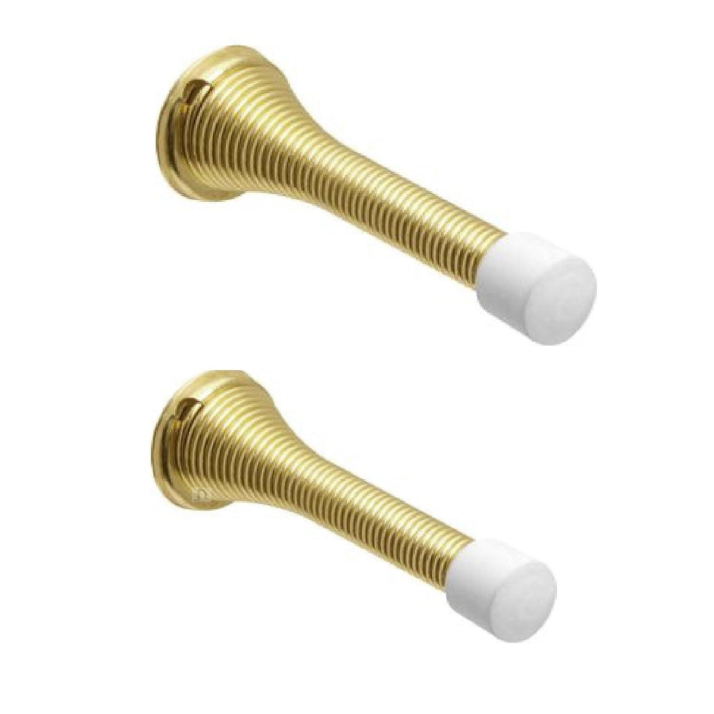 Brass Spring Door Stops - Pack Size : 2 Home Smart