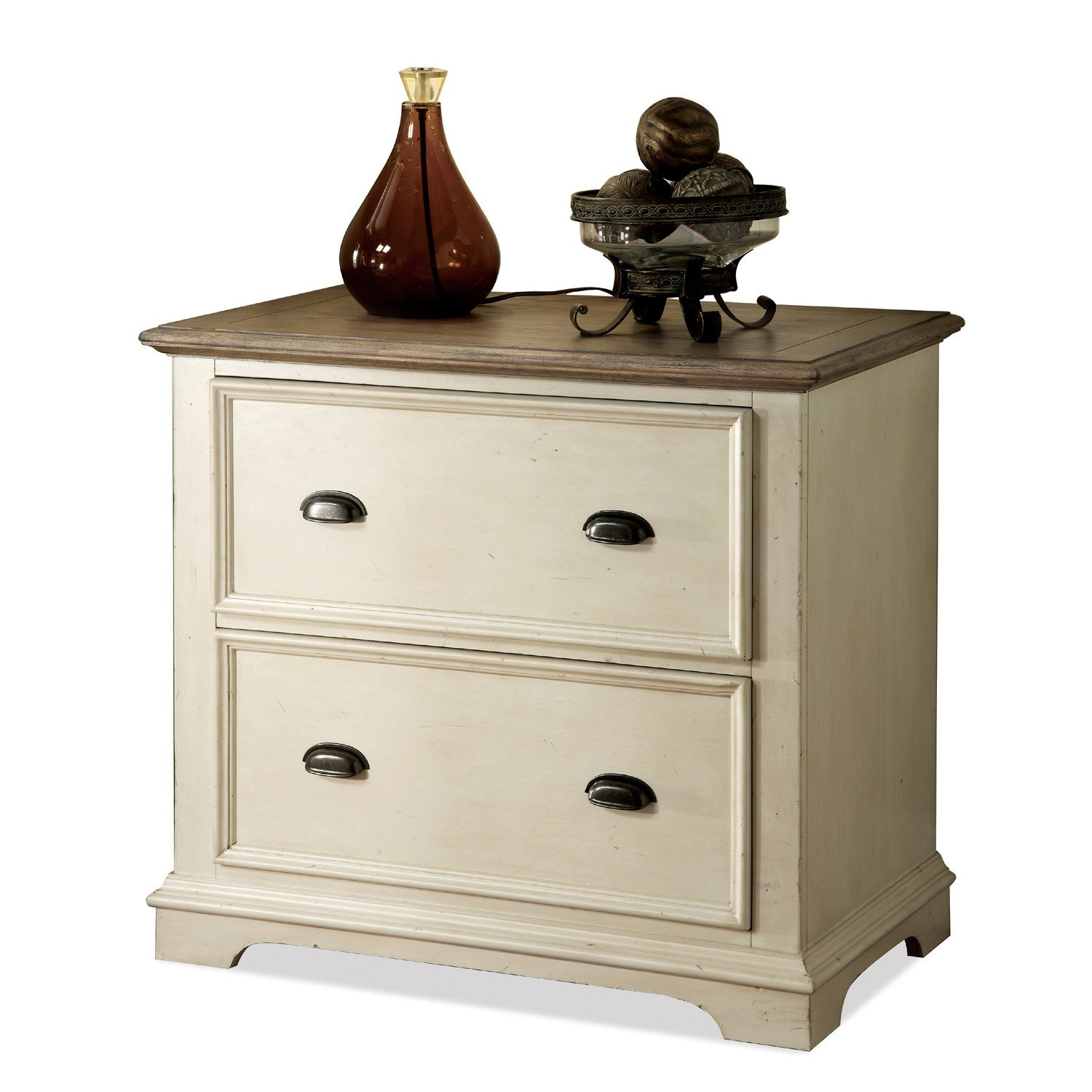 Amazon.com: Coventry Lateral File Cabinet (Weathered Driftwood U0026 Dover  White): Home U0026 Kitchen