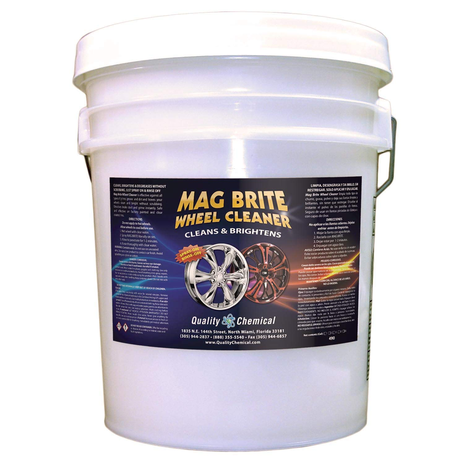Quality Chemical Mag Brite - Acid wheel cleaner formulated to safely remove brake dust and heavy road film.-5 gallon pail