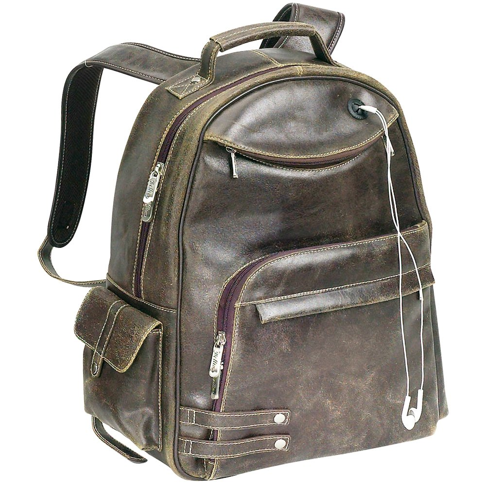 Amazon.com: The Rebel Distressed Leather Backpack Bellino ...