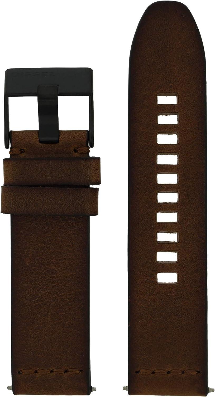 Diesel LB-DZ1876 - Correa de repuesto para reloj de pulsera, piel, 24 mm, color marrón