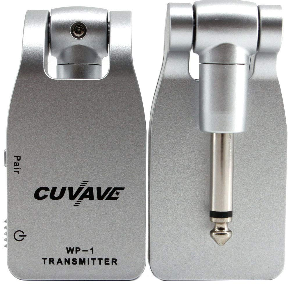 Vilihy CUVAVE 2.4GHZ Wireless Guitar System Digital Transmitter Receiver for Electric Guitar Bass Built-in Rechargeable Lithium Battery (Silver) by Vilihy