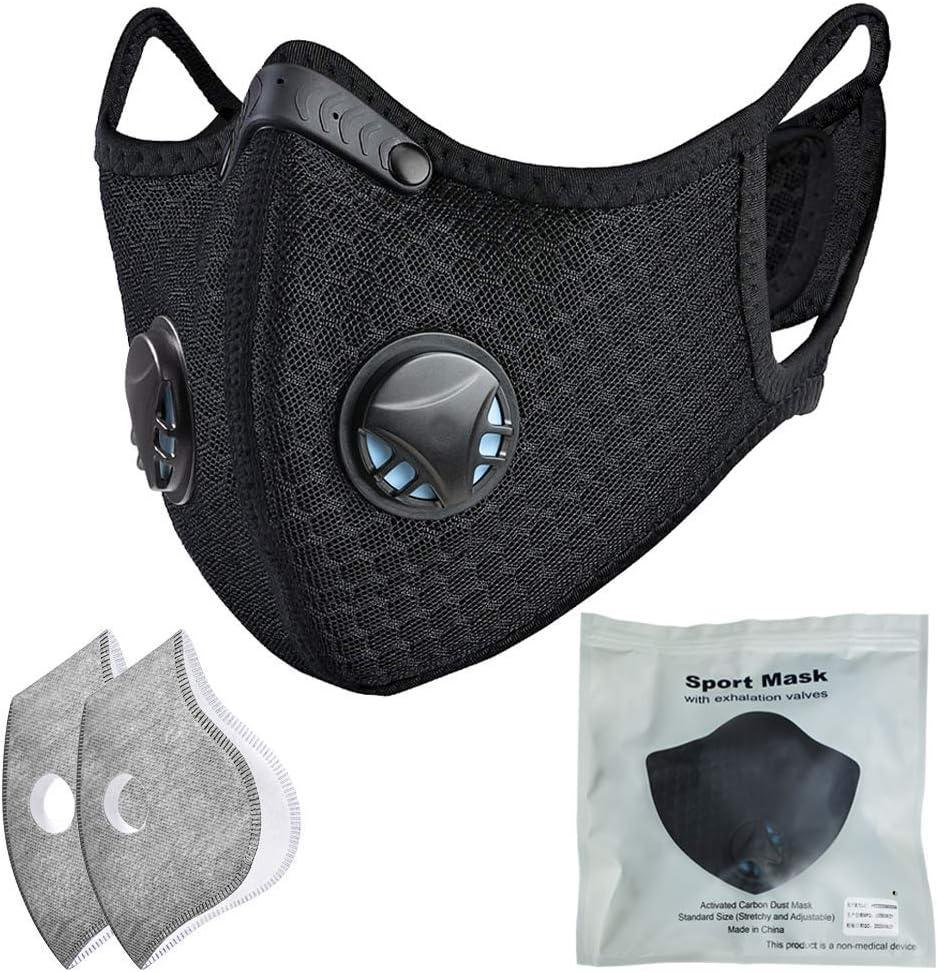 5 mascarillas de seda para adultos y ni/ños a prueba de polvo cuidado personal antiniebla lavable para ciclismo color negro