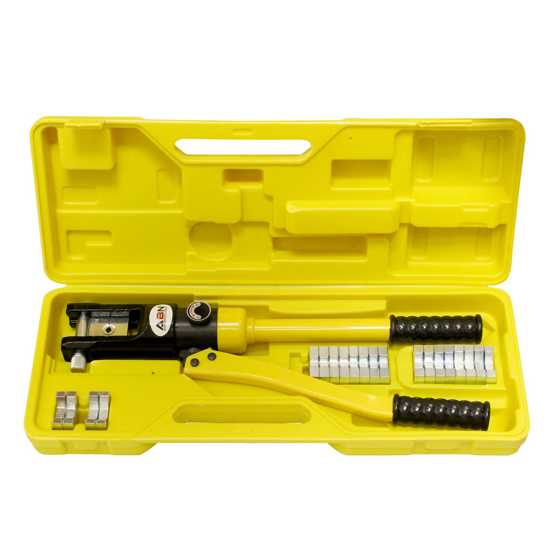 ABN Hydraulic Crimper Cable Crimping Tool & 11 Crimper Dies, 16 Ton – Battery Cable Crimper Cable Crimper Lug Crimper