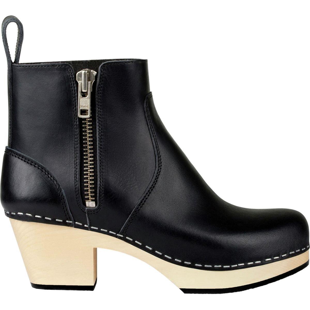 swedish hasbeens Women's Zip It Emy Ankle Boot B06XD5838X 37 Regular EU (7 US)|Black