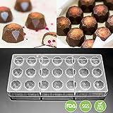 Jeteven Molde de Chocolate Molde de Caramelos para DIY Jalea Dulce Bandeja Herramienta Tridimensional (21pcs